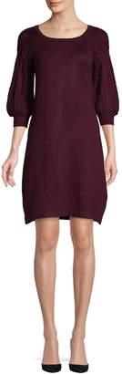Eliza J Three-Quarter Puff-Sleeve Dress