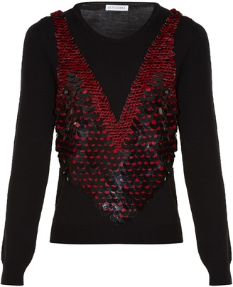 Powell sequinned wool sweater