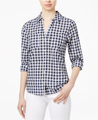 Maison Jules Cotton Gingham Shirt, Only at Macy's $59.50 thestylecure.com