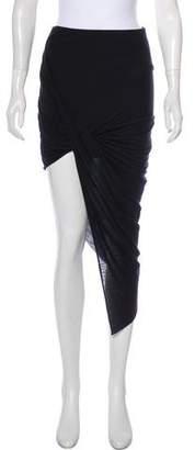 Helmut Lang HELMUT Drape Midi Skirt