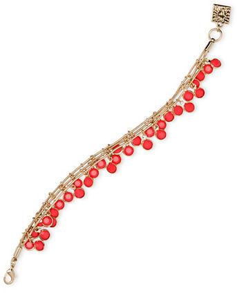 Anne KleinAnne Klein Epoxy Stone Multi-Charm Necklace