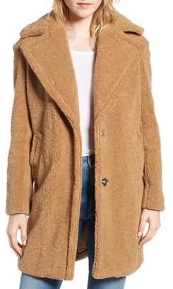 Kensie Faux Fur Teddy Bear Coat