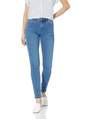 Parker Lily Women's Juniors Butt Lift Mid Rise Slim Fit Skinny Jeans