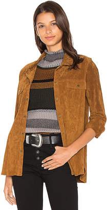 Sanctuary シルキースエードオーバーシャツジャケット