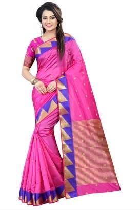 Rekha Ethnic Shop and Gold Color Kanjivaram Art Silk Women's Saree