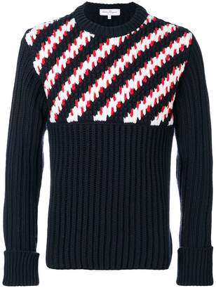 Salvatore Ferragamo diagonal striped jumper