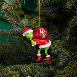 Kurt Adler You're A Sly One Grinch Santa Ornament
