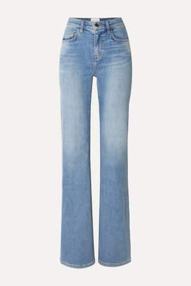 Current/Elliott The Scooped Jarvis Mid-rise Flared Jeans - Light denim