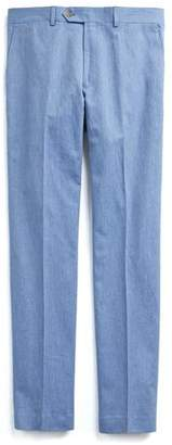 Todd Snyder Cotton Linen Trouser in Peri Blue
