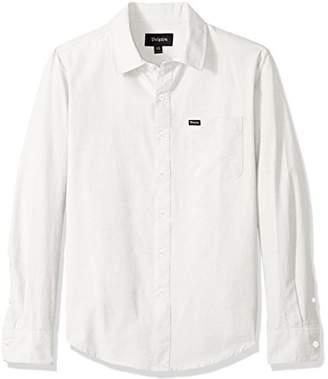 Brixton Men's Charter Oxford Standard FIT Long Sleeve Woven Shirt