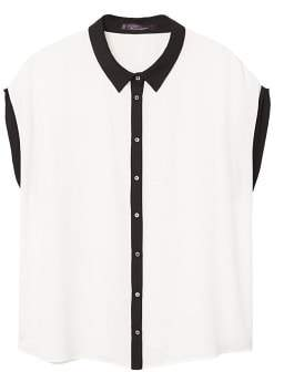 Violeta BY MANGO Combined flowy shirt
