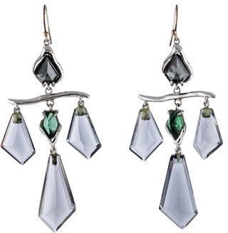 Alexis BittarAlexis Bittar Crystal & Hematine Chandelier Earrings