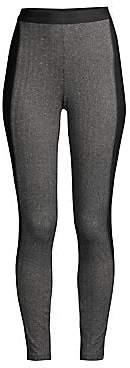 Eileen Fisher Women's Herringbone Colorblock Ankle Leggings