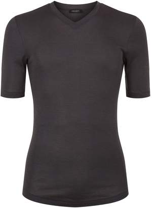 Hanro Thermal Silk-Cashmere V-Neck T-Shirt