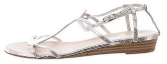 Chanel Metallic Wedge Sandals