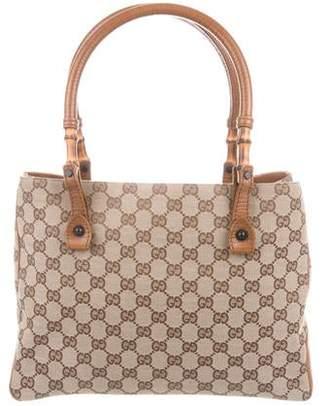 dda6a6de805750 Gucci Black Canvas Tote Bags - ShopStyle