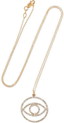 Ileana Makri Circled Eye 18-karat Gold Diamond Necklace - one size