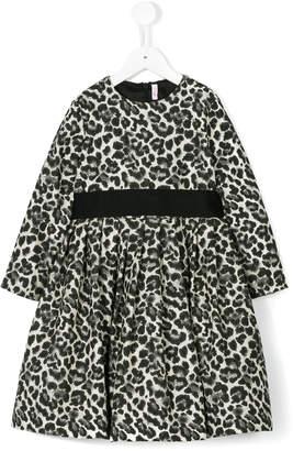 Il Gufo leopard print dress