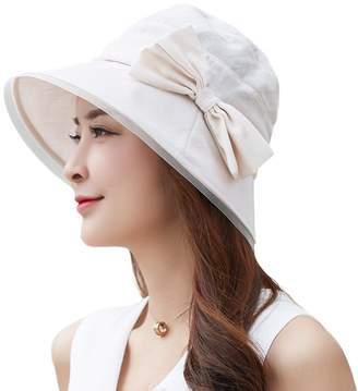 Siggi Womens Summer Bucket Boonie UPF 50+ Wide Brim Sun Hat Foldable Beach Accessories Gray