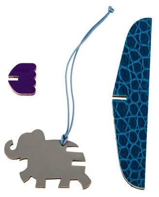 Hermes Petit H Flying Elephant 3-Piece Charm