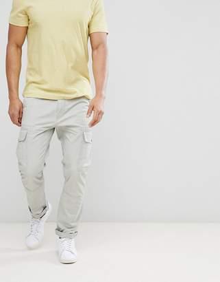 Benetton Cargo Trousers In Grey