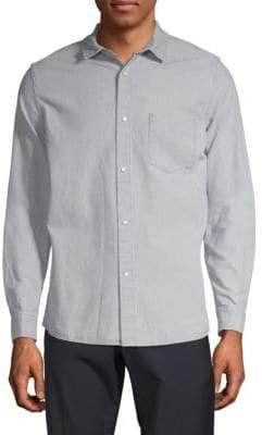 A.P.C. Surchemise Milan Cotton & Linen Button-Down Shirt