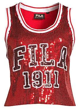 Fila Women's Kiki Sequin Jersey Tank Top