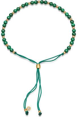 Astley Clarke Biography Malachite 18ct gold-plated beaded bracelet