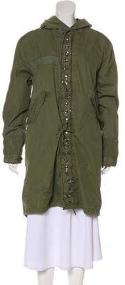 Mr & Mrs Italy Embellished Knee-Length Coat