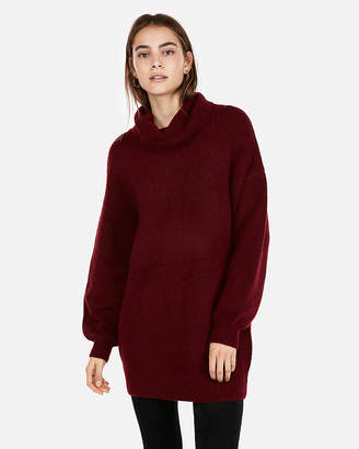 Express Cozy Cowl Neck Sweater Dress