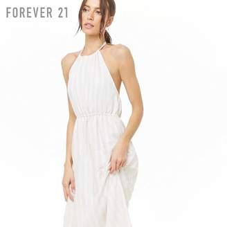 Forever 21 (フォーエバー 21) - [CONTEMPORARY]ストライプホルターネックミディワンピース