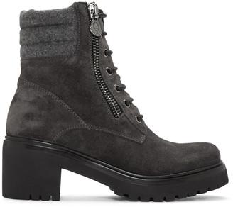 Moncler Grey Viviane Boots $735 thestylecure.com