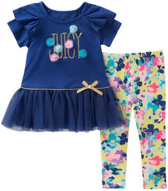 Juicy Couture Mesh Top & Floral Legging Set