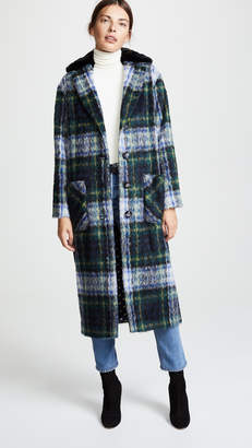 Moschino Plaid Coat
