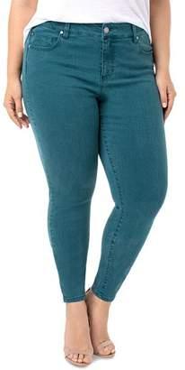 Liverpool Los Angeles Plus Liverpool Plus Abby Skinny Jeans in Atlantic Deep Green