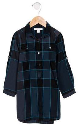 Burberry Girls' Nova Check Shirt Dress blue Girls' Nova Check Shirt Dress