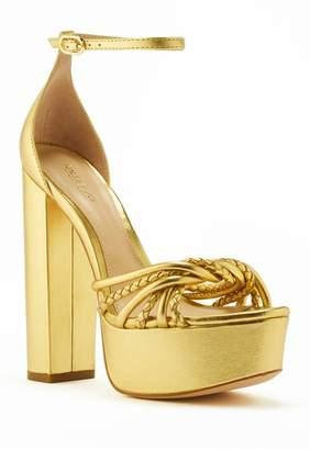 Rachel Zoe Kinsley Metallic Leather Platform Sandal