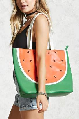Forever 21 Watermelon Faux Leather Tote
