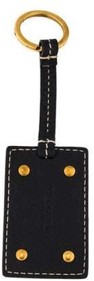 Dolce & Gabbana Leather Logo Keychain