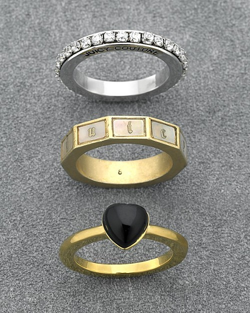 Juicy Couture Stackable Ring Set