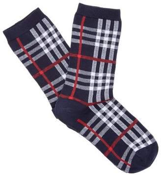 Burberry Vintage Check Cotton Blend Socks - Mens - Navy