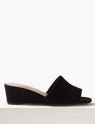M&S CollectionMarks and Spencer Wedge Heel Mule Shoes