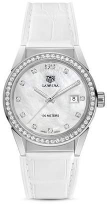 Tag Heuer Carrera Diamond Bezel Watch, 36mm