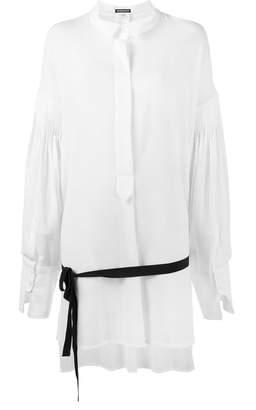 Ann Demeulemeester pleated long sleeve shirt