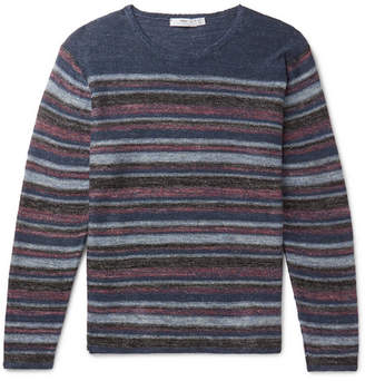 Striped Donegal Linen Sweater