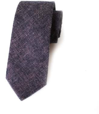 Kathrine Zeren Dark Purple Chambray Skinny Tie