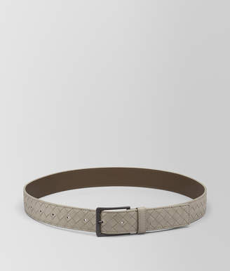 Bottega Veneta DARK CEMENT INTRECCIATO VN BELT