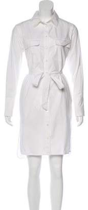 Equipment Button-Up Long Sleeve Shirtdress