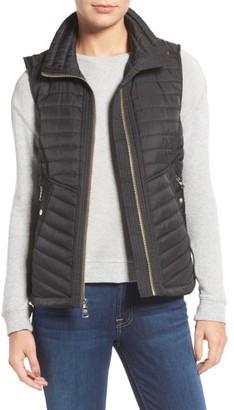 Women's Vince Camuto Contrast Trim Quilted Vest $118 thestylecure.com