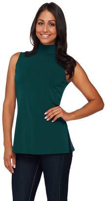 Susan Graver Essential Liquid Knit Sleeveless Turtleneck